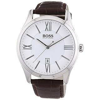 Hugo Boss Herren-Armbanduhr Ambassador Round Analog Quarz Leder 1513021
