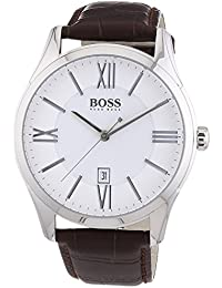 amazon co uk hugo boss watches hugo boss mens quartz watch analogue classic display and leather strap 1513021