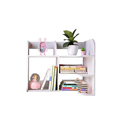 WYN Schreibtisch-Regal Book Shelf Desktop-Bücherregal Schreibtischablage Einfach Platzsparend Büro zu Hause,B - Breite Zähler Einheit