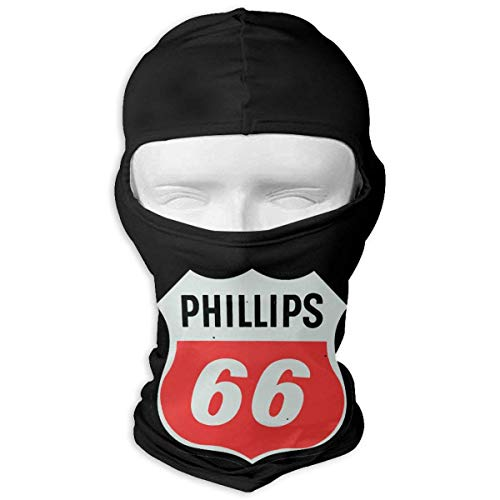 Vintage Phillips 66 Gas Station Logo Full Face Mask Hood,Outdoor Cycling Ski Motorcycle Balaclava Mask