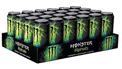 24 Dosen a 0,5L Monster Rehab Greentea Green Tea Drink inc. Pfand grün