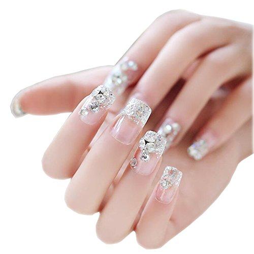Nail Art Decals Nails Wraps Temporaire Transparent Aux Diamants