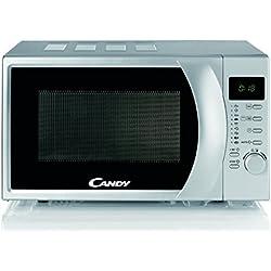 Candy CMG 2071 DS Micro-ondes avec écran numérique, 8programmes automatiques 700 W Silver (argenté) 20 l