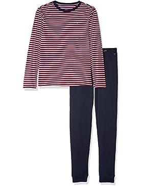 Tommy Hilfiger LS Set Stripe, Pijama para Niños