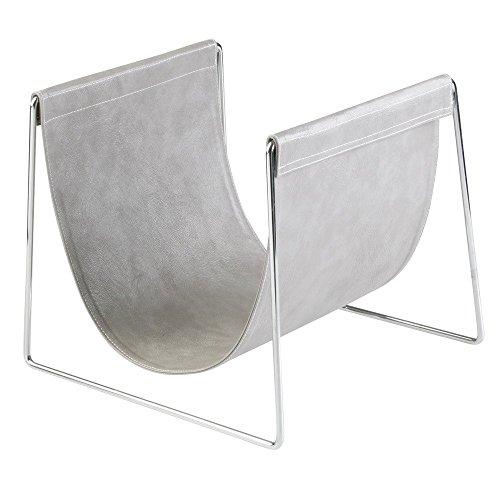 iDesign 62620EU Lauren Handtuchhalter für Badezimmer Ablage für Handtücher/Waschlappen, 30.3 x 27.8 x 25.3 cm, Grau/chrom, Plastik