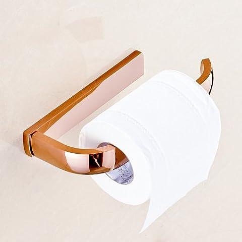 LYNDM Wall Mount Rose Golden baño cesta de almacenamiento Barra de toalla de baño Toalla Portarrollos Ganchos Jabonera,soporte de papel(#MJG0431)