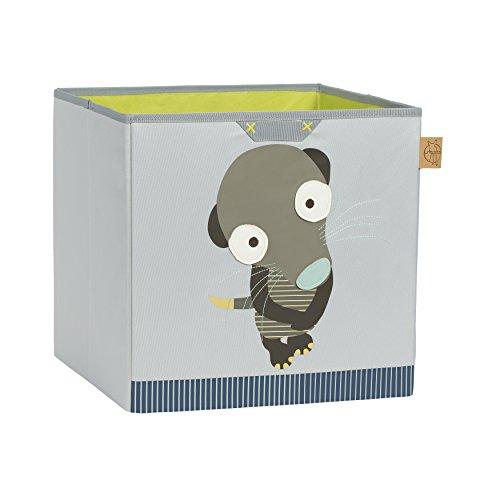 Lässig 1541004807 4Kids Toy Cube Storage Wildlife Erdmännchen, grün