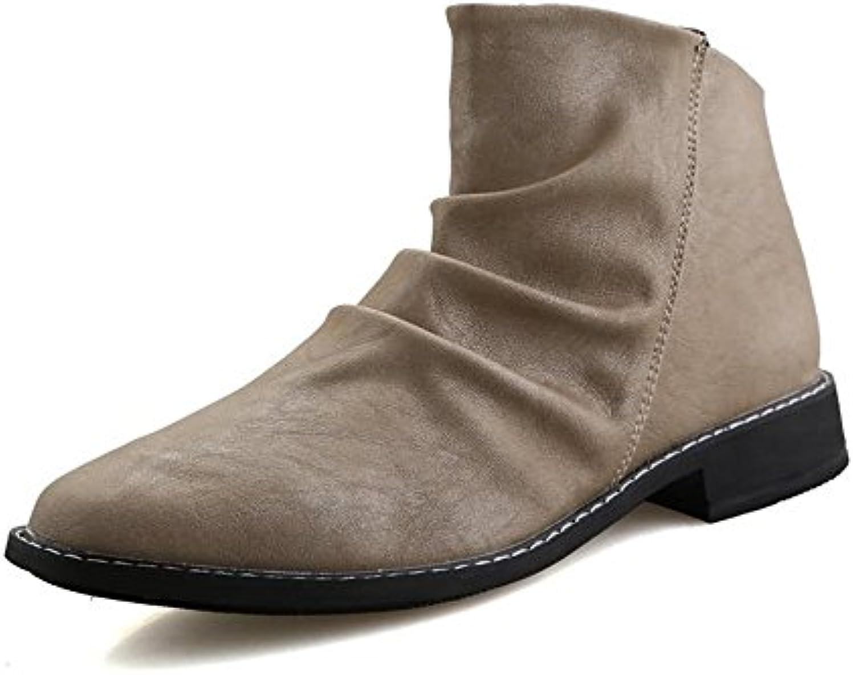 Xujw-scarpe, Stivali da Uomo 2018, Stivaletti da uomo con tacco largo e tacco a spillo (Coloree   Cream-Colourosso,... | Conveniente  | Uomo/Donne Scarpa