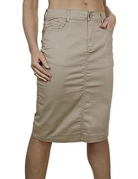 ICE 2516-3 Estilo Falda Jeans Extensible Brilliant Chinos Beige para Tallas Grandes