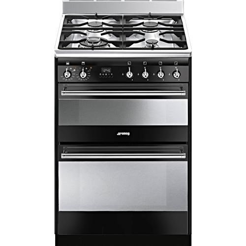 Smeg SUK62MBL8 60cm Wide Double Oven Black Dual Fuel Cooker Best Price and Cheapest