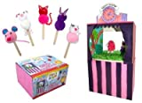 Mister Maker 3D Pet Puppet Show Kit Included in the box, which transforms into the theatre is; Pet design templates Craft sticks Wiggly eye selection Glitter glue Pom pom selection Foam sheets Tissue paper Colouring pens Stage decorations Glue stick A full instruction sheet to guide you through the creation of your own show.