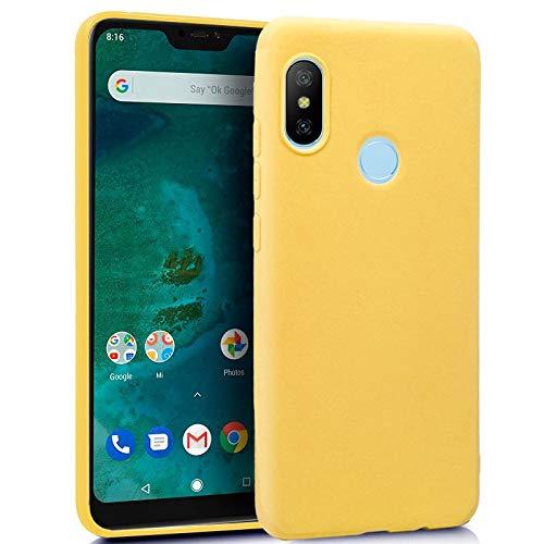 iGlobalmarket Funda Silicona para Xiaomi Mi A2 Lite / 6 Pro (Amarillo)