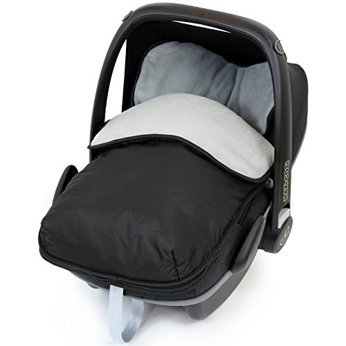 Universal Car Seat Footmuff To Fit Maxi Cosi - Grey (Black / Grey)