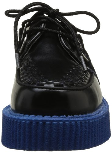 TUK Mondo Lo Creepers, Chaussures basses homme Noir (Black With Blue Sole)