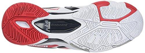 BABOLAT Chaussures de All Court de tennis Drive 3pour Femme Blanc - blanc/rouge