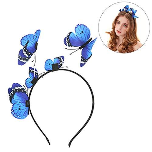 outgeek Party Stirnband, Frauen Mädchen Schmetterling Krone Haarschmuck Haarreif Kopfschmuck Stirnband Haarband Kopfbedeckung für Hochzeit Party ()