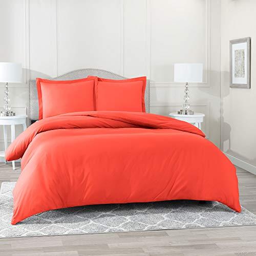 Nestl Bettwäsche Bettbezug, Dark Color Collection, Mikrofaser, Orange, Twin (Orange Bettbezug Twin)