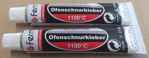 Dichtschnurkleber Ofenschnurkleber Hochtemperaturkleber Dichtung 1100°C Fermit 1 bis 5 Tuben 17 ml (2 Tuben 17 ml)