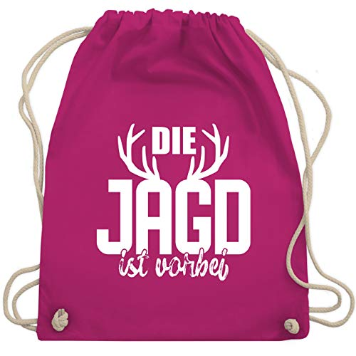 Kostüm Jagd Rot - JGA Junggesellenabschied - Die Jagd ist vorbei - Unisize - Fuchsia - WM110 - Turnbeutel & Gym Bag