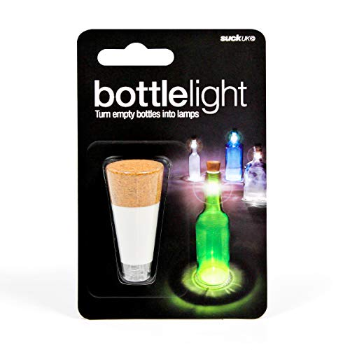 Suck UK Official Rechargeable USB LED Bottle Light / Aufladbares USB LED Flaschen-Licht – wiederverwendbare / Dekoration für Heim und Garten