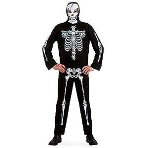 Carnival Toys 82025 - trajes de esqueleto para adultos, sobretodo, talla M