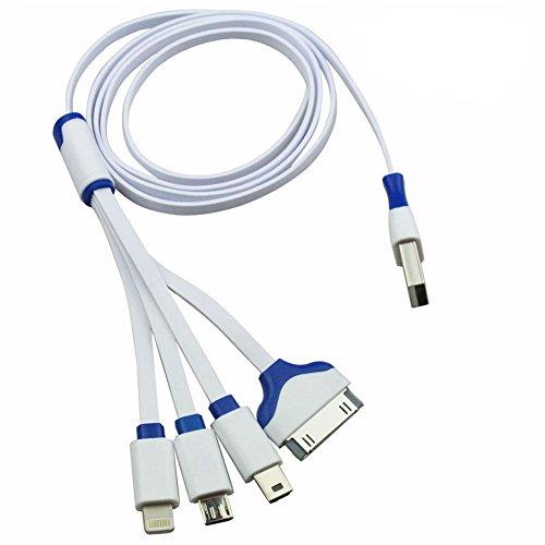 4in 1USB veloce cavo di ricarica USB, connettore multiplo, 1m/1m cavo per iPhone 76S 65s 4S iPad Mini