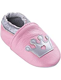 da929a76fe6d0 Chaussures de bébé en Cuir Souple avec Mocassins Semelles en Daim pour Enfants  Chaussures Tout-