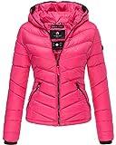 Marikoo Kuala Steppjacke Damen mit Kapuze - Übergangsjacke Frühjahr Fashion Windbreaker Jacke Frauen - Pink/Gr. M