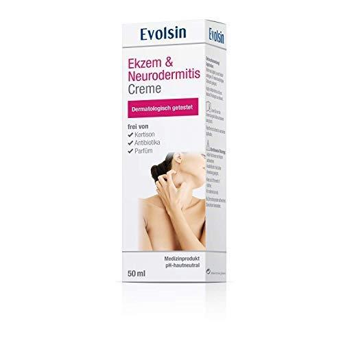 NEU: Evolsin Ekzem & Neurodermitis Creme/Salbe | Lindert Juckreiz & beruhigt die Haut | Hilft bei gereizter, trockener, juckender und irritierter Haut - Ekzeme Salbe