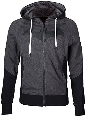 Batman Hoodie Sweater Kapuzen Pullover Arkham Knight Grey