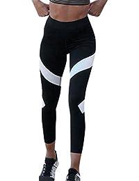 Damen 3/4 Yoga Leggings Hose , Yogogo Hohe Taille Pants | Trainingshose Hosen | Print Leggings | Sport Fitness Workout Leggins | Elastische Dünne Hosen | Sporthose