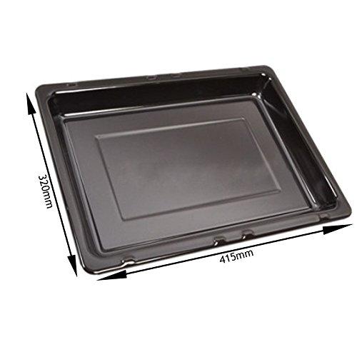 Spares2go smaltato fat vaschetta per philips-whirlpool forno fornello grill (415mm x 320mm)