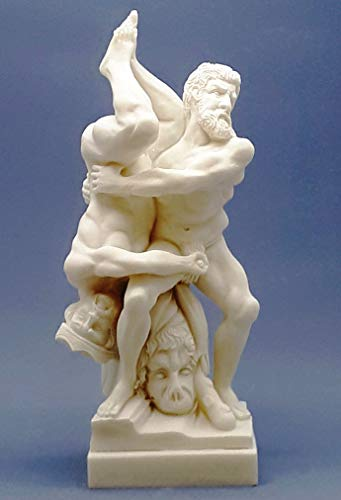 greekartshop Hercules and Diomedes Skulptur 8. Labour Mythologie Penis Griechische römische Statue Skulptur