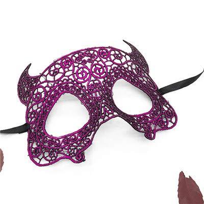 Macxy - Lace Maske für Karneval Ober Halbe Gesichtsmaske Maskerade Venezianische Masken für Halloween-Party-Hochzeit Weihnachten [LM007A 2pc]