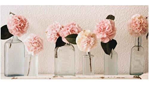 Quadri L&C ITALIA Quadri Moderni Stampa su Tela 90 x 45 Shabby Chic per  Soggiorno, Camera da Letto, Cucina, Salotto, Bagno con Fiori - Rose Vintage  1