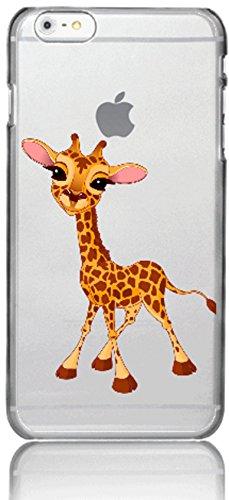 Blitz® Créatures Mythiques motifs housse de protection transparent TPE caricature bande iPhone Royaume-Uni M16 iPhone 6sPLUS Girafe bébé se trouve M2