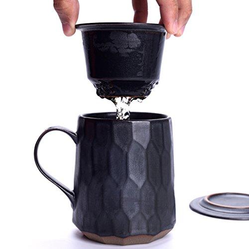 Filtrez tasse de thé de kung fu séparation en céramique de thé, tasse à bulle personnelle tasse des hommes de grande capacité tasse créative tasse de bureau à la maison