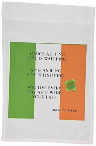 3drose FL _ 100355_ 1Irische Sprichwort auf Irische Garten Flagge, 12von 18