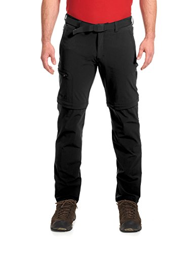 maier sports Herren Outdoor Hose T-zipp Tajo, Black, 26