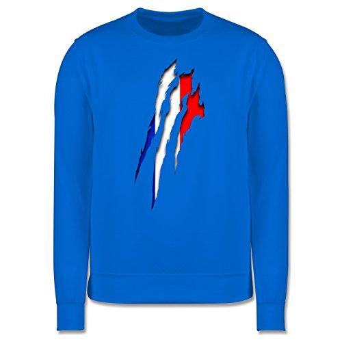 Länder - Frankreich Krallenspuren - Herren Premium Pullover Himmelblau