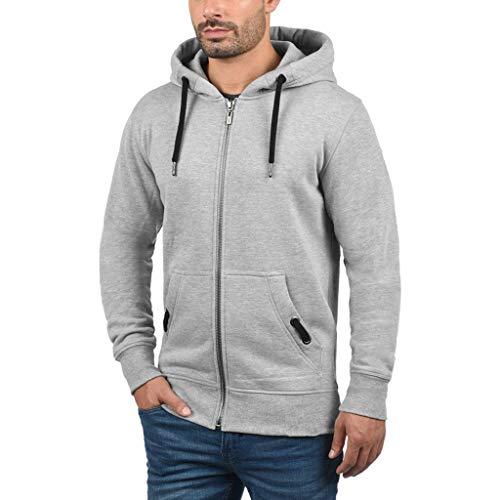SCHOLIEBEN Hoodies Zip Oversized Fit Mantel Jacke Herren Männer Pullover Hoody Sport Warmer Blend Sweatshirt Ausschnitt Neck Cool Enger Slim Lange Ärmel Sweater Top