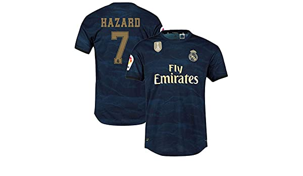 K/&S Sports Maillot Eden Hazard Real Madrid Ext/érieur 2019//2020 Homme et Enfant