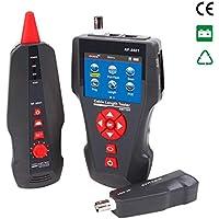 NOYAFA NF-8601 Probador de cable de red multifuncional Medidor de longitud de cable LCD