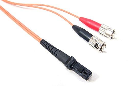 Electromyne 1m MTRJ / ST Duplex Optic Fiber Cable Multimode Patch-Kabel LWL Glasfaserkabel (Generalüberholt) -