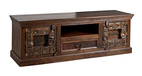 SIT-Möbel Almirah 5121-30 koloniales Lowboard, zwei Türen, je 1 Schublade & offenes Fach, recyceltes Holz, 150x45x50 cm
