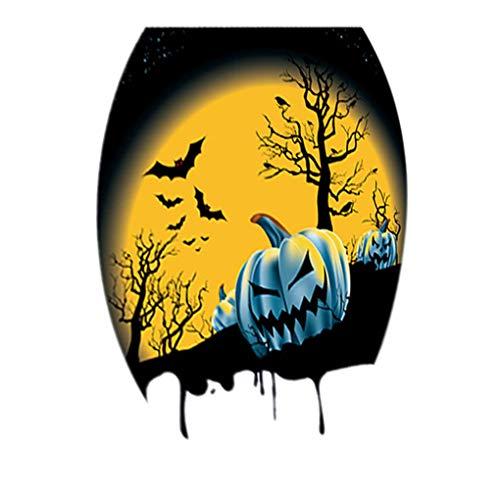 Halloween EIN tema Igienici adesivi ovali PVC pegatinas Bagno spaventosi espeluznante Tatuaggi ()