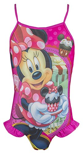 Girls Disney Minnie Mouse Cupcake Swimming Costume Swim Suit sizes from 2 to 6 Years