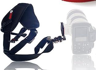 SHOPEE Hiffin Popular AK-47 Strap Quick Release Neck Comfort for DSLR SLR Camera DV Video Pressure Relief Belt (NU1307, Black)