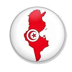Gifts & Gadgets Co. Untersetzer, Motiv Tunesische Flagge im Wind, 90 mm, rund, gummierte Rückseite
