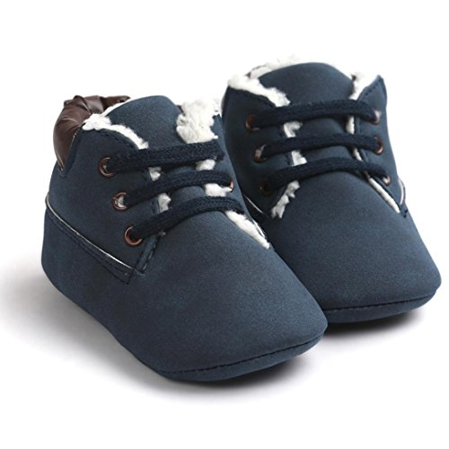 Azul Criança Escuro Amlaiworld Suave Bebê De Sapatos Pu Menina Do Da Menino Únicos Couro 7wwgZ